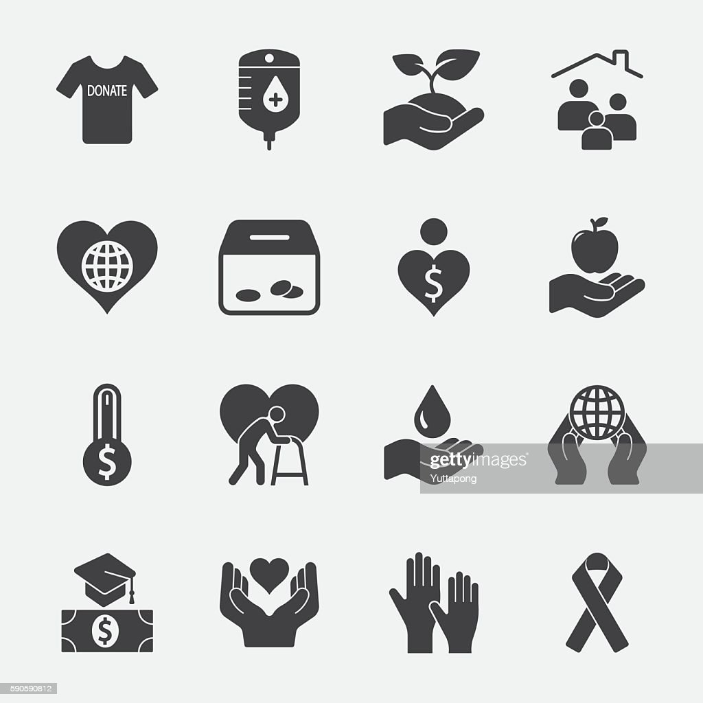 Charity and Donate vector icon 2