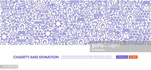 charity and donation banner - charitable donation stock illustrations