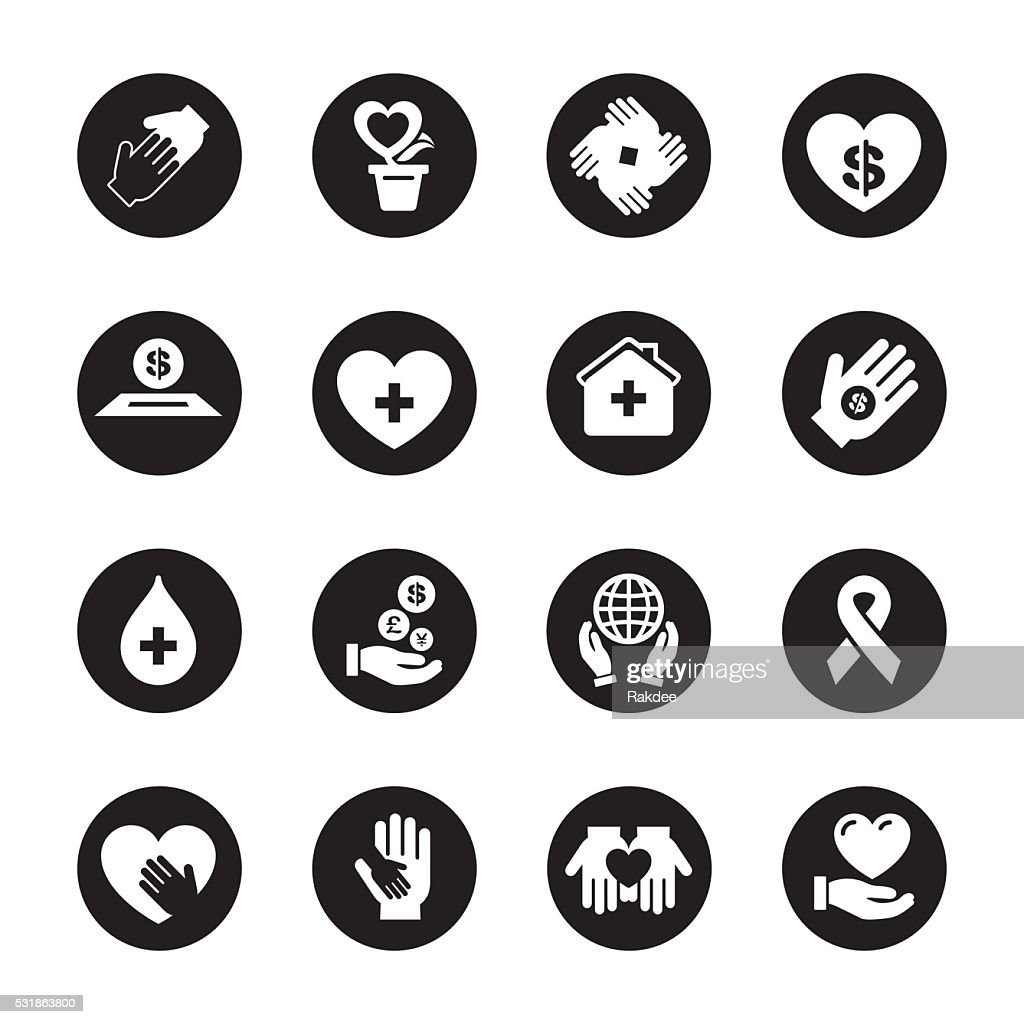 Charity and Donation - Black Circle Series