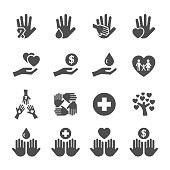 charity and donation icon set 10, vector eps10