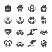 charity and donation icon set 2, vector eps10