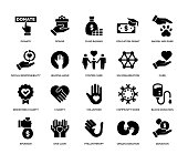 Charity and Donation Icon Set