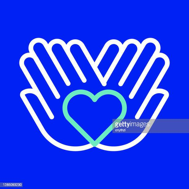 charity and donation line icon. editable stroke. simple outline icons. - giving tuesday stock illustrations