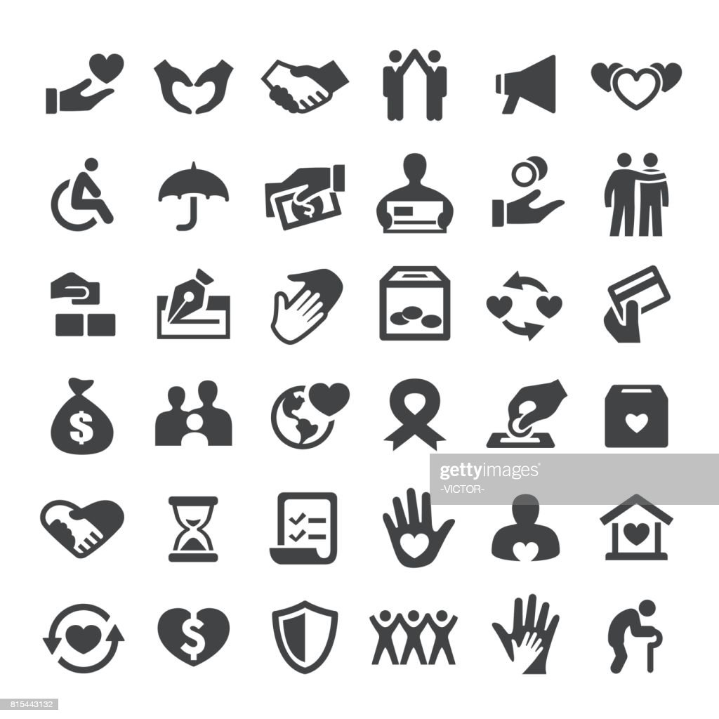Charity and Relief Icons - Big Series