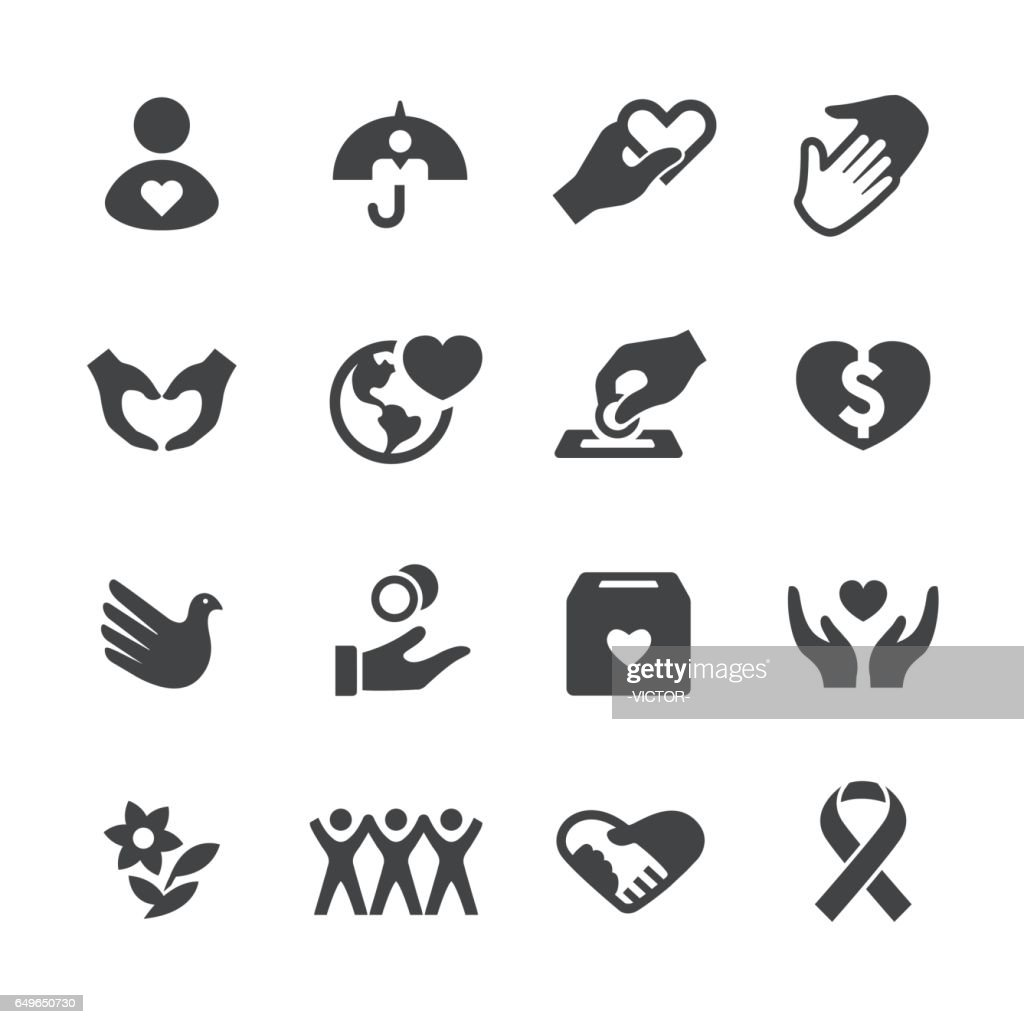 Charity and Relief Icons Set - Acme Series
