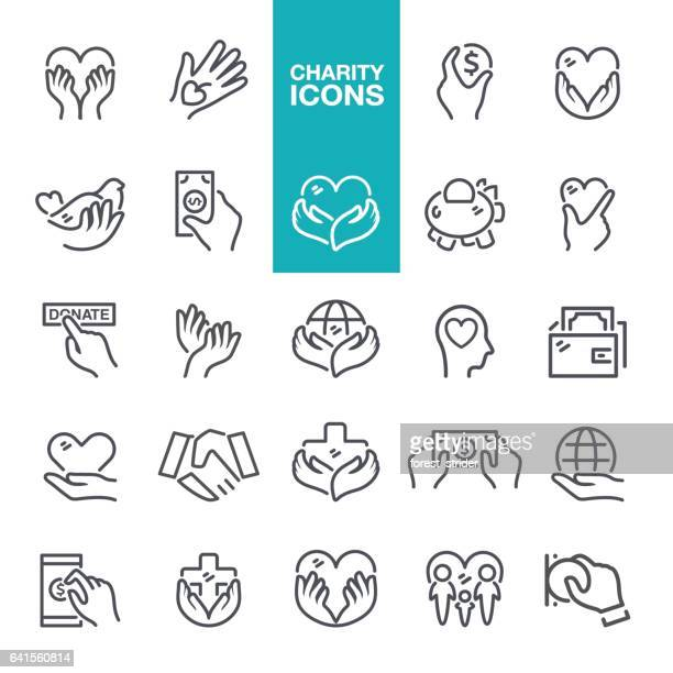 charity and relief icons - holding stock illustrations, clip art, cartoons, & icons
