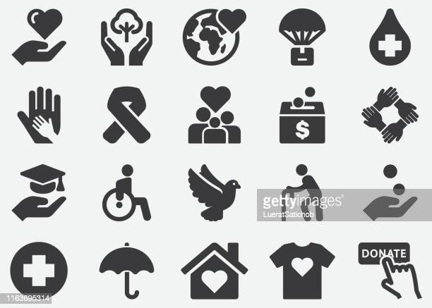 Charity and Relief Silhouette icons
