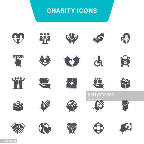 Charity Black Icons