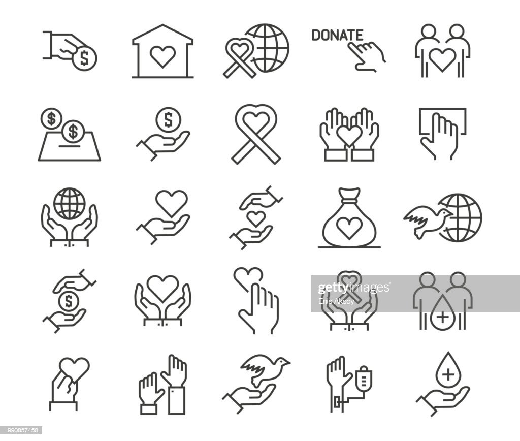 Charity, Donation and Donor Icons