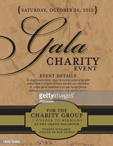 Charity Gala Invitation Design Template On Paper ...