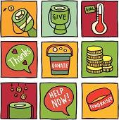 Charity icon blocks
