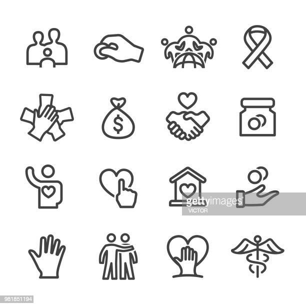 Charity Icon Set - Line Series