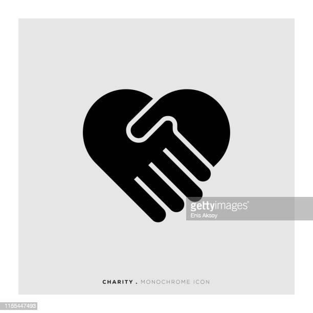 チャリティーアイコン - 慈善事業点のイラスト素材/クリップアート素材/マンガ素材/アイコン素材