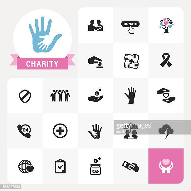 Charity-icons und label Vektor-pack