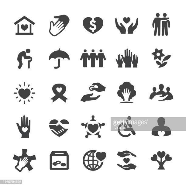 charity icons - smart series - gesellschaftliches symbol stock-grafiken, -clipart, -cartoons und -symbole