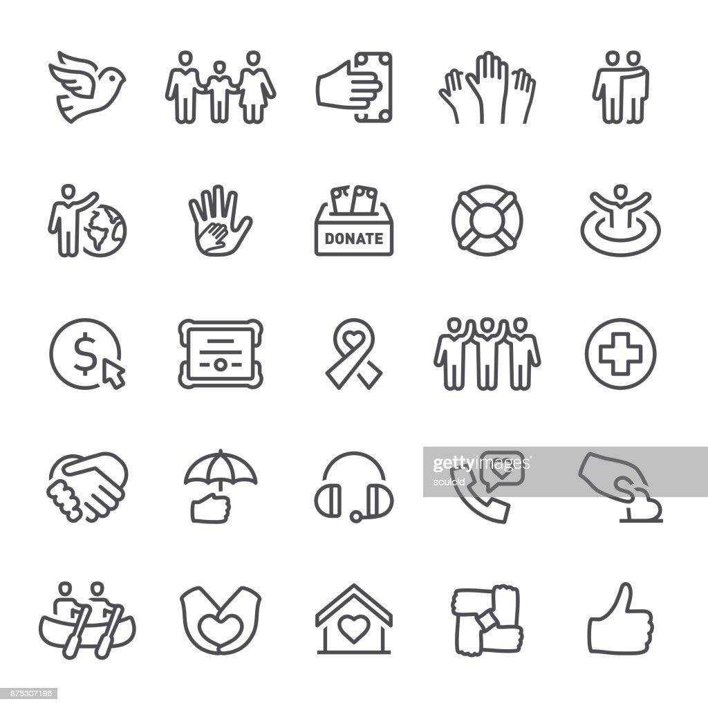 Charity Icons : Stock Illustration