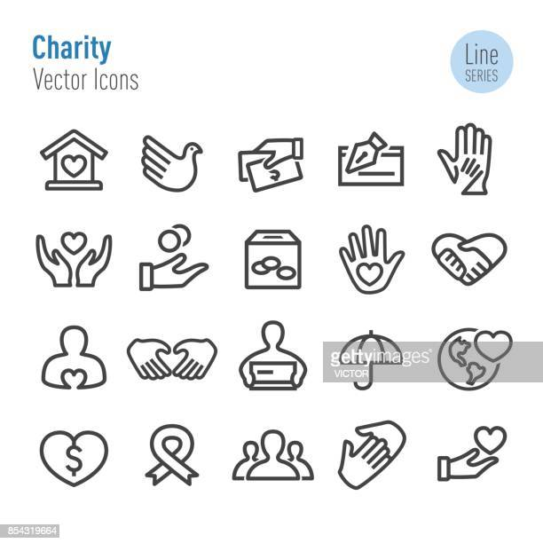 Charity Icons - Vector Line Series