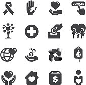 Charity Silhouette icons   EPS10