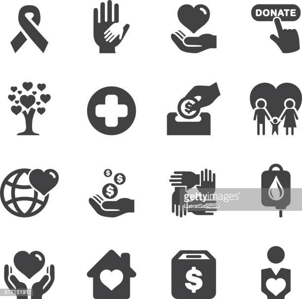 Charity Silhouette icons | EPS10