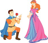 charming prince and beautiful princess