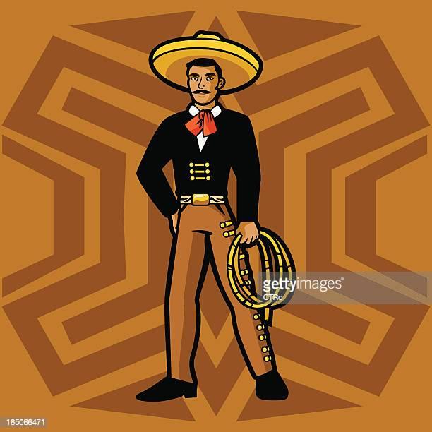 ilustrações de stock, clip art, desenhos animados e ícones de cowboy mexicano mexicano - mariachi