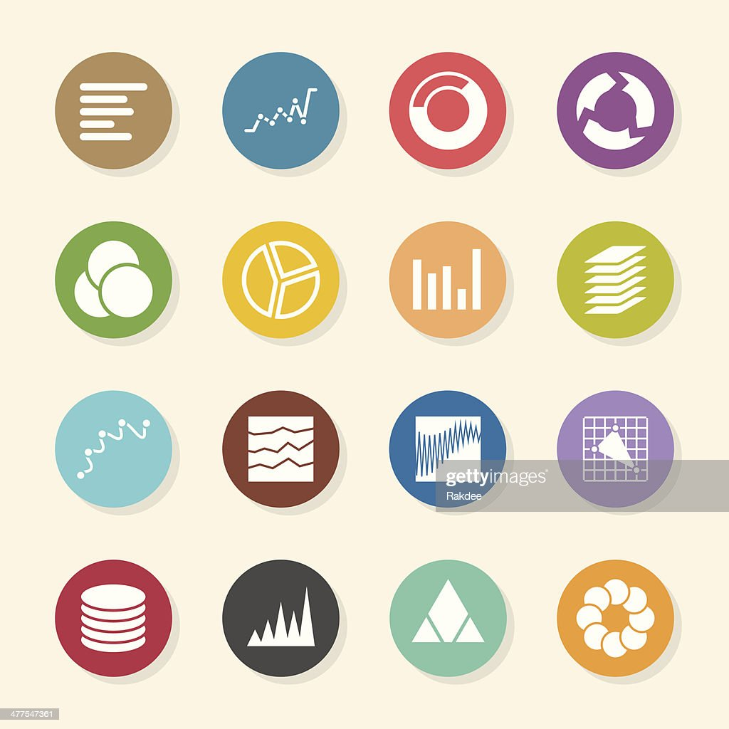 Chart and graph icons color circle series vector art getty images chart and graph icons color circle series vector art nvjuhfo Images