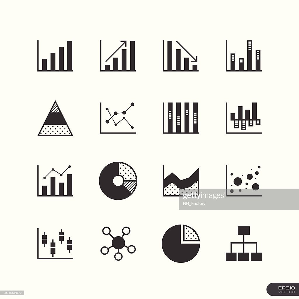 Chart and Graph Icons set - Illustration