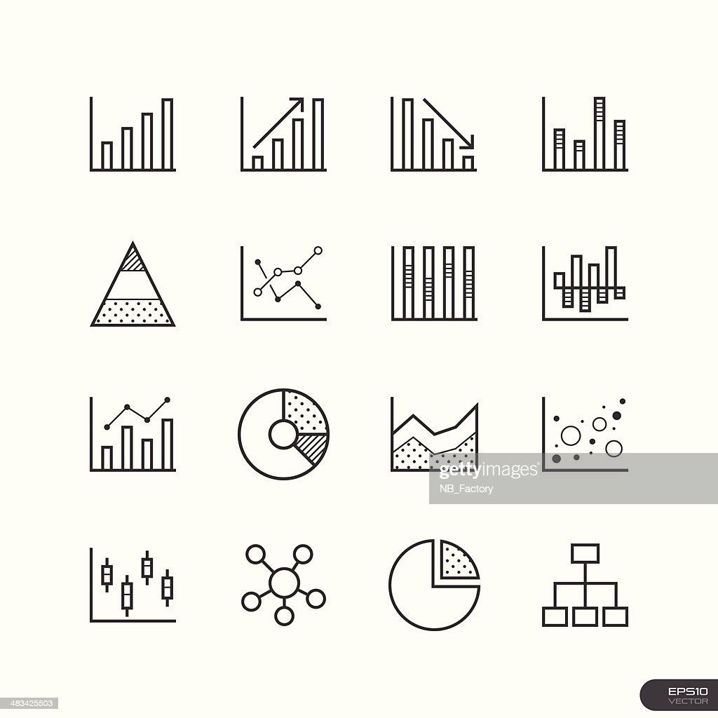 Chart and Graph Icons set