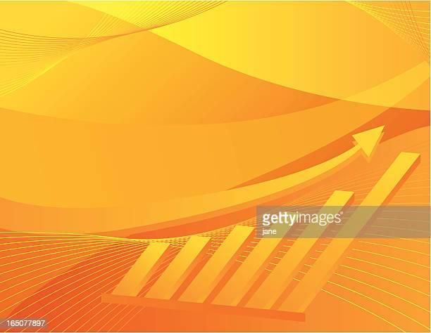 Chart Background - Orange