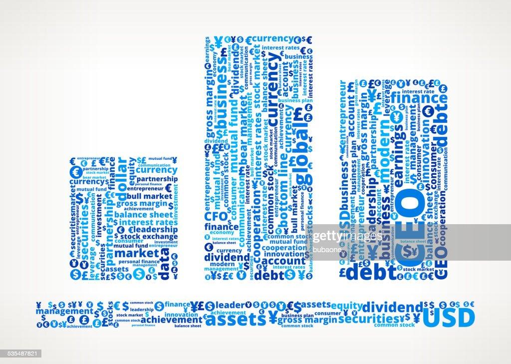 チャートのビジネスと金融の単語の雲 ベクトルアート getty images