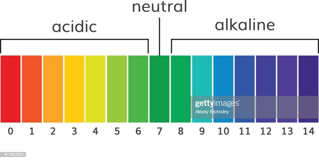 Chart ph alkaline and acidic scale vector