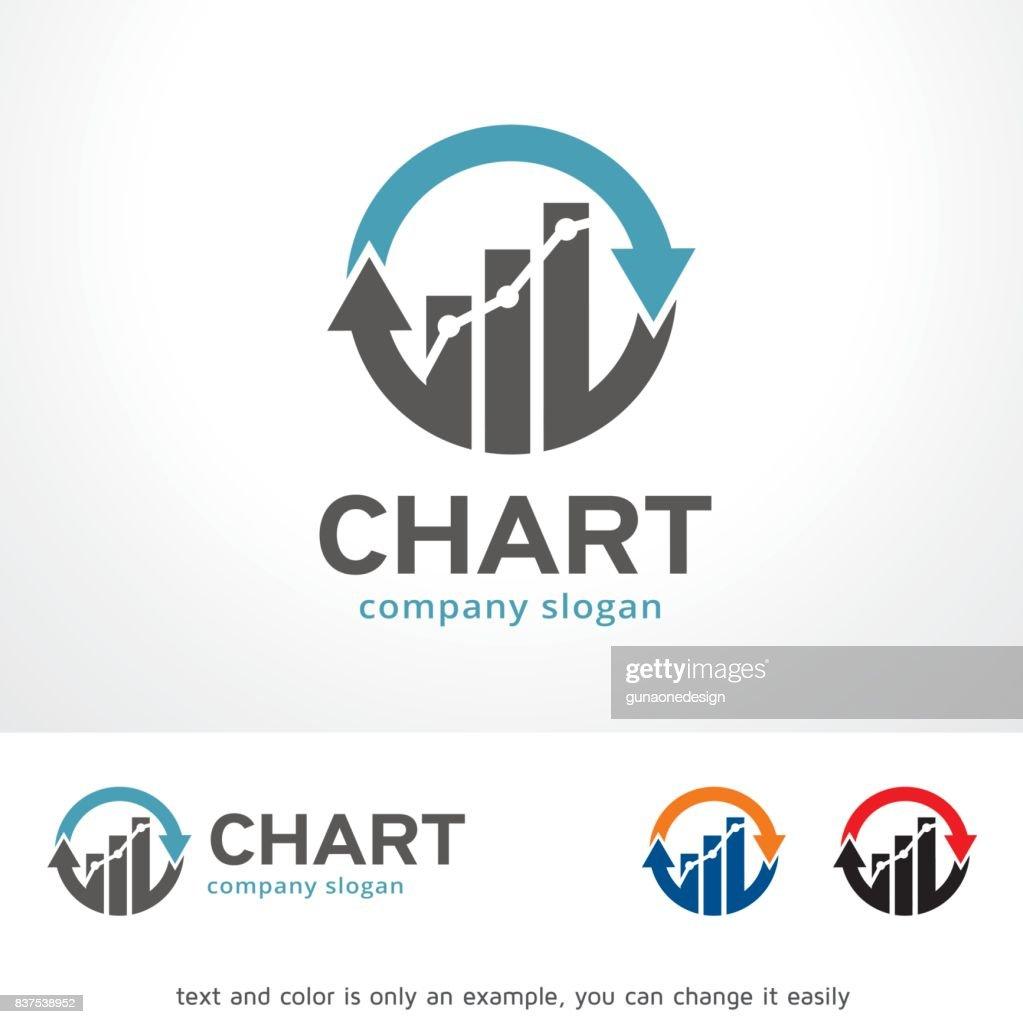 Chart Symbol Template Design Vector, Emblem, Design Concept, Creative Symbol, Icon