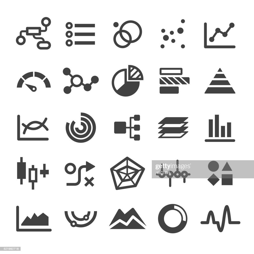 Chart Types Icons Set - Smart Series : Stock Illustration