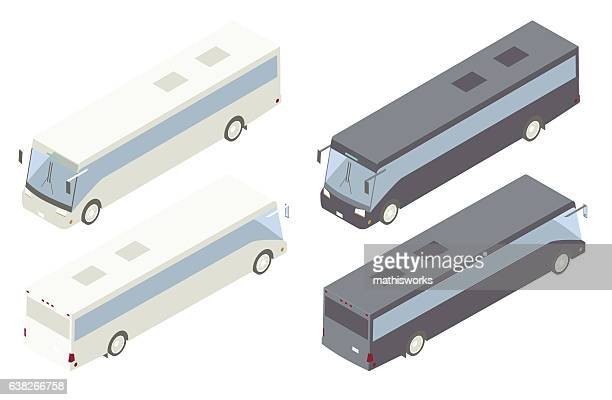 Charter Bus Isometric Illustration