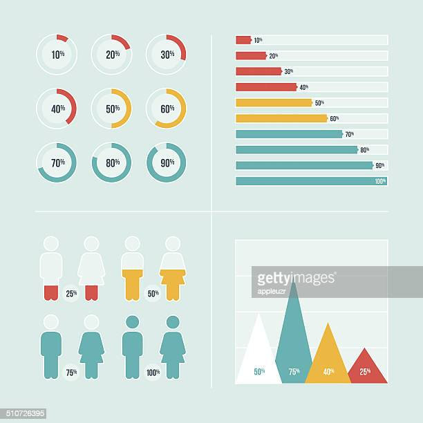 charts and graphs - number 75 stock illustrations, clip art, cartoons, & icons