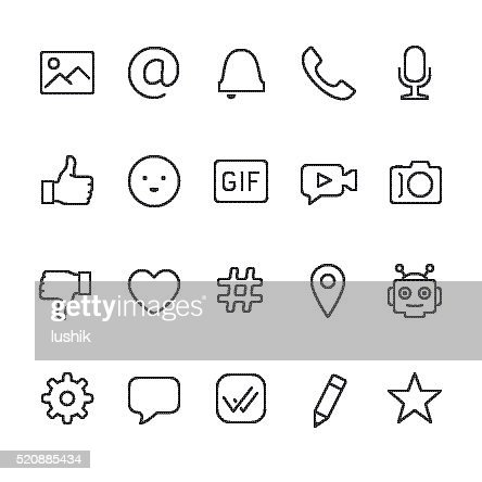 Chat and Message vector icons