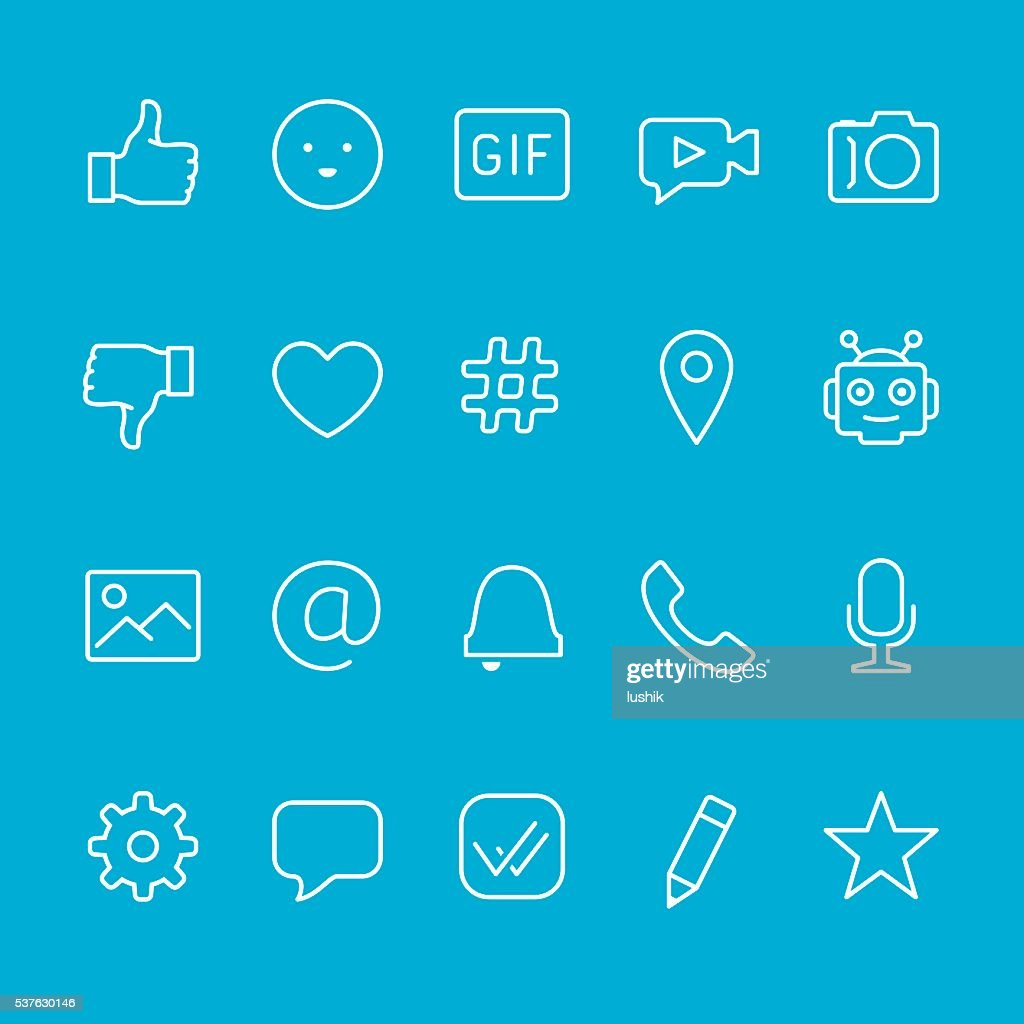 Chat and Messaging outline icons