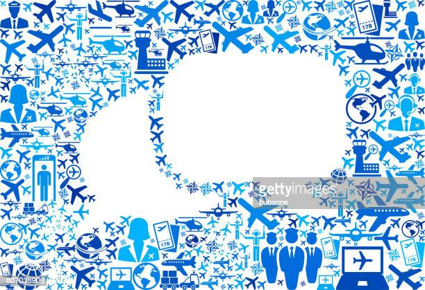 Chat Aviation and Air Planes Vector Graphic