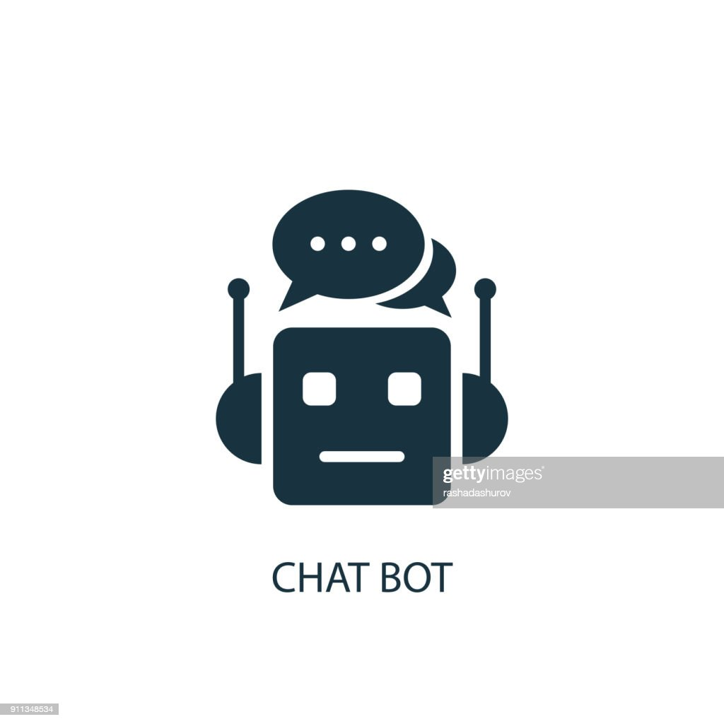 Chat Bot icon. Simple element illustration