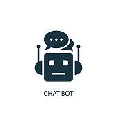 Chat Bot icon. Simple element illustration
