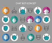 Chat bot icons