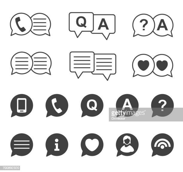 chat bubble icons - q and a stock illustrations