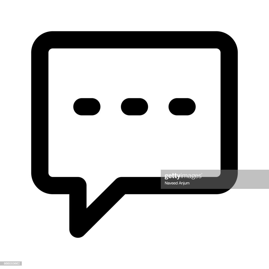 chat bubble Thin Line Vector Icon