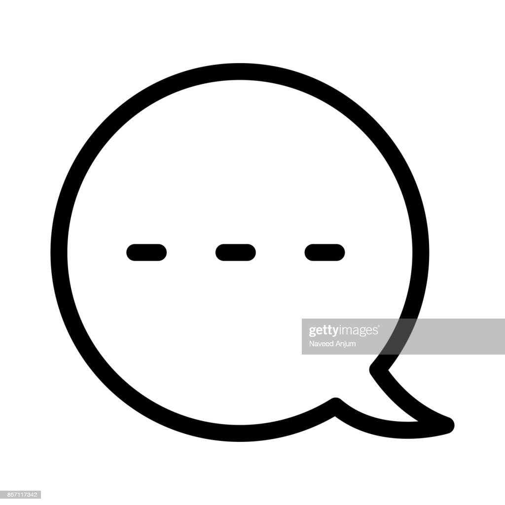 Chat bubble Thin Line Vector Icons