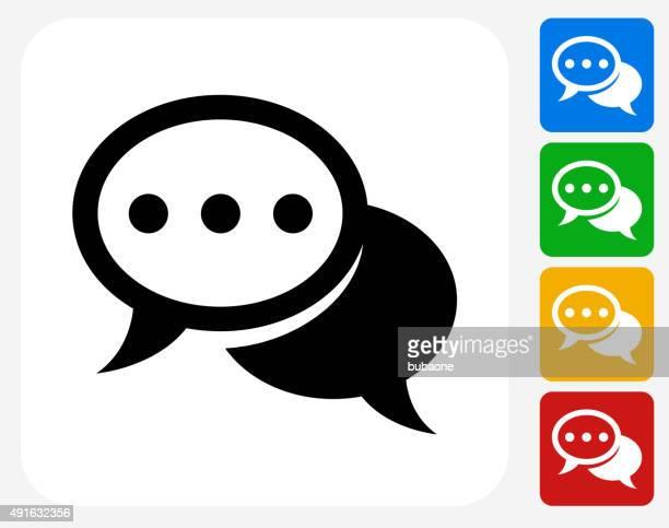 chat blasen-symbol flache grafik design - sprechblase für internetchat stock-grafiken, -clipart, -cartoons und -symbole