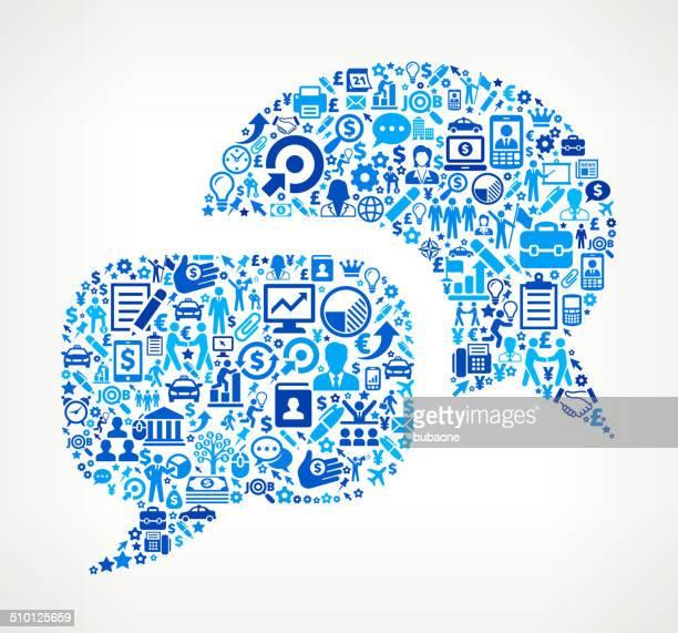 Chat Blasen auf Business lizenzfreie Vektorgrafik-Muster