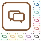 Chat bubbles simple icons