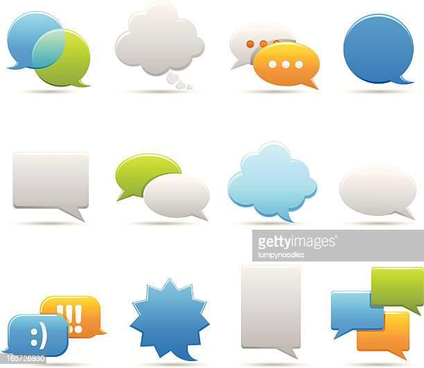 chat blasen - sprechblase für internetchat stock-grafiken, -clipart, -cartoons und -symbole