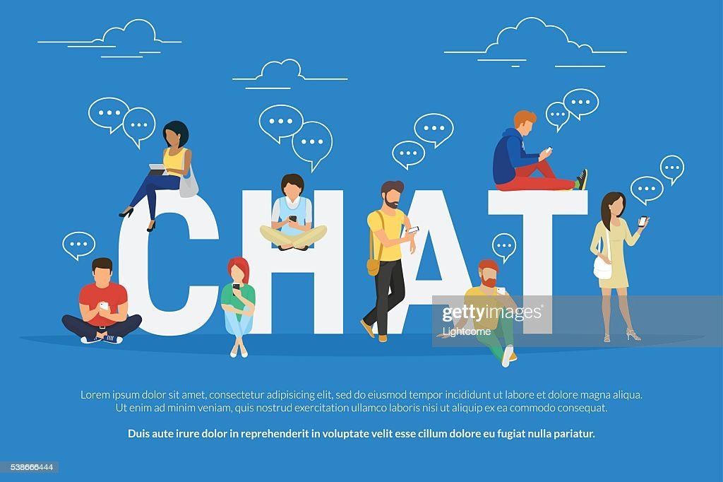 Chat concept illustration