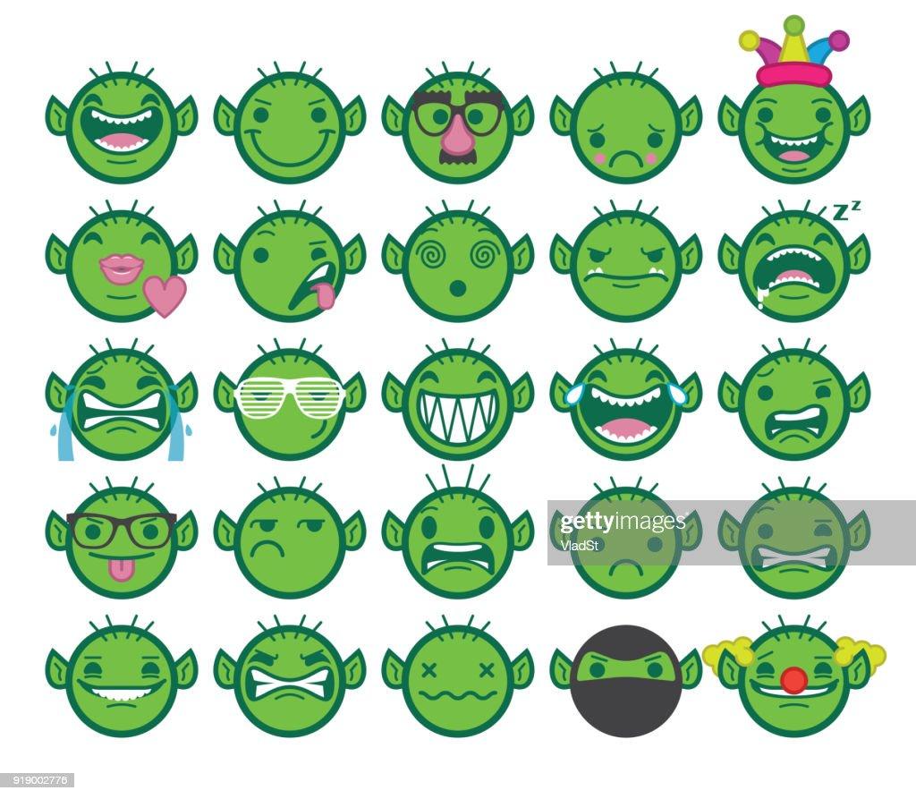 Bate-papo Emoji Internet Trolls on-line Texting Emoticons : Ilustração